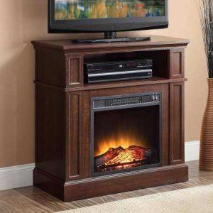 mueble con chimenea eléctrica
