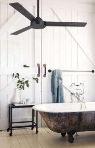 ventilador de techo en el baño
