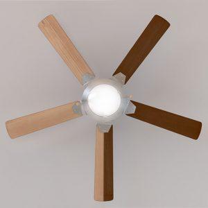 ventilador de techo con plafón