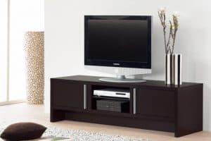 mueble de televisión oscuro