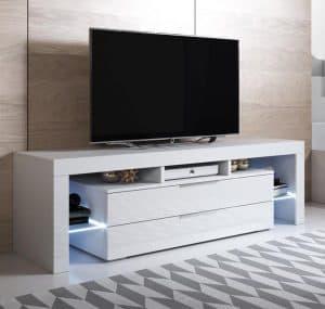 mueble de televisión con compartimentos