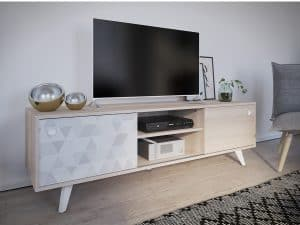 mueble de televisión claro