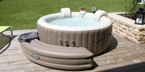 jacuzzi inflable gris