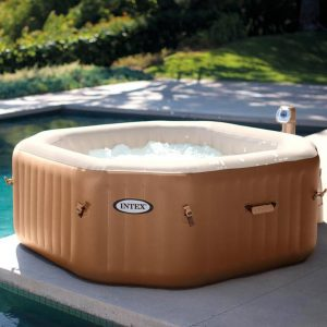 jacuzzi inflable marrón