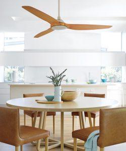 ventilador de techo en la cocina