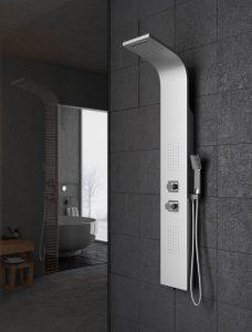 columna de ducha metálica