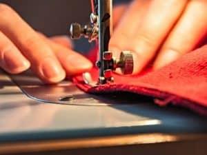 máquina de coser de cerca