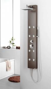 columna de ducha marrón