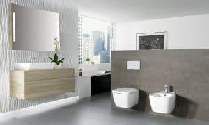 baño con WC suspendido