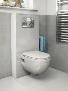 WC suspendido con cisterna