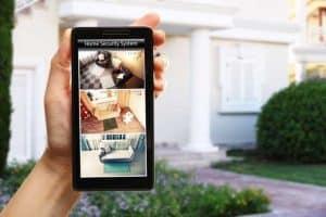 imágenes de cámara de vigilancia en un móvil