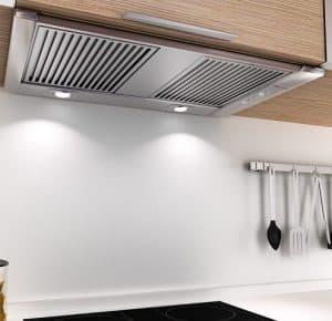 campana extractora en la cocina