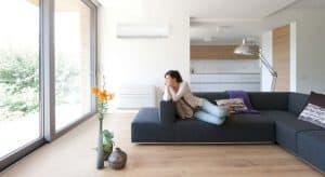 aire acondicionado en un gran salón