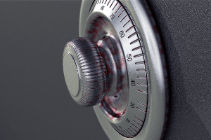 rueda de una caja fuerte