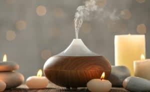 difusor de aceites esenciales y velas