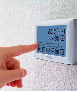 termostato de ambiente con pantalla grande