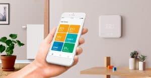 termostato de ambiente controlado mediante un móvil