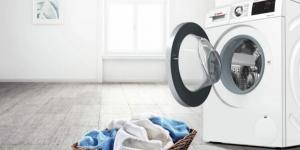 lavadora en un habitación