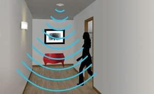 ondas de un detector de movimiento