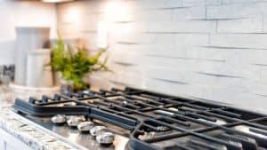 cocinas de gas en una encimera