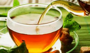 té en un vaso de té
