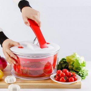 centrifugadora de ensalada roja