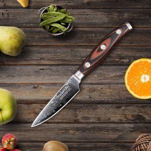 cuchillo de cocina con mango de madera