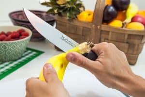 cortar con un cuchillo de cocina