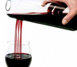 decantador de vino alargado