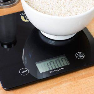 báscula de cocina digital negra