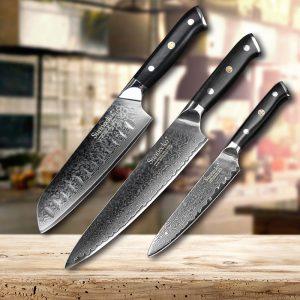 tres cuchillos de cocina