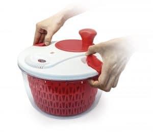 centrifugadora de ensalada roja pequeña