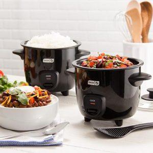 cocedores de arroz negros
