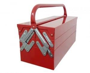 caja de herramientas de metal cerrada