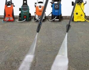 varios limpiadores de alta presión