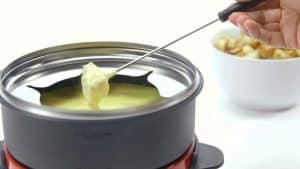 fondue con queso