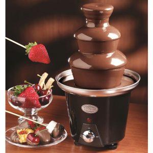 fuente de chocolate negra pequeña