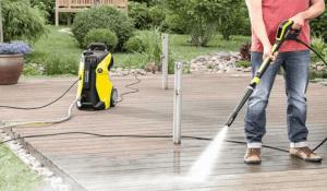 limpiador de alta presión en marcha