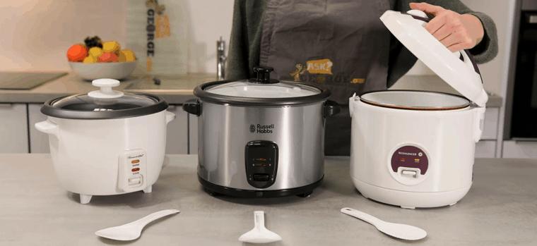 varios cocedores de arroz