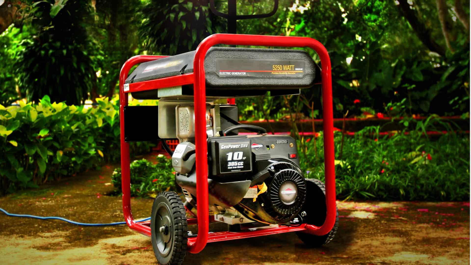 generador eléctrico rojo