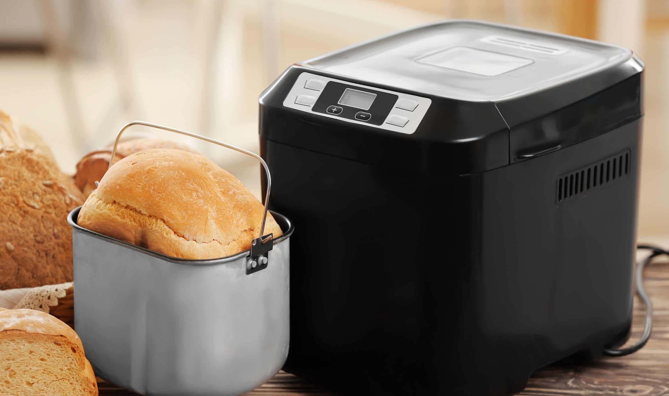 pan en una panificadora