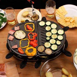 raclette en dos partes