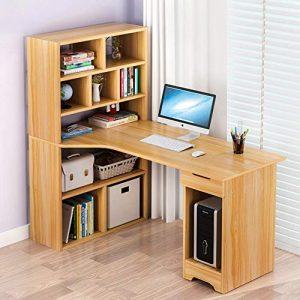mesa de ordenador con estantería