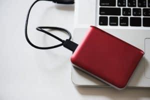 disco duro externo rojo