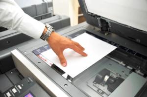 fotocopiadora abierta