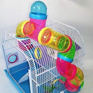 jaula de hamster colorida