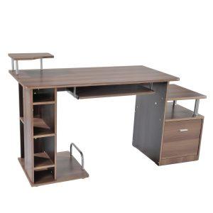 mesa de ordenador con compartimentos