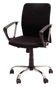 silla de oficina con reposabrazos