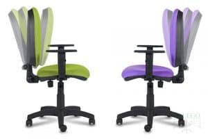 sillas de oficina con respaldos reclinables