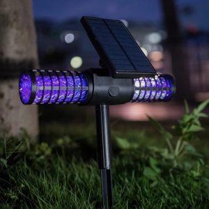 lámpara anti insectos solar
